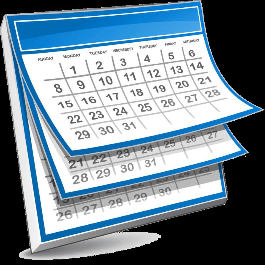 Schedule clipart calendar page, Schedule calendar page.