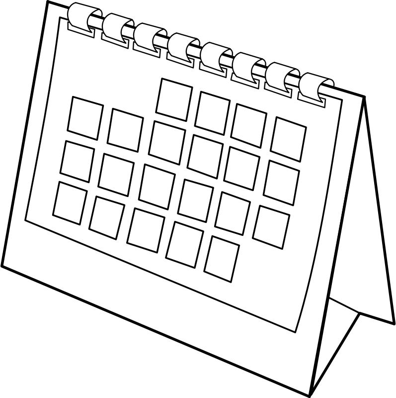 Free Clipart: Calendrier / calendar.