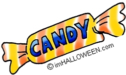 882 Halloween Candy free clipart.