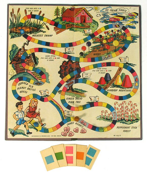 Free Clipart Antique Candyland Game.