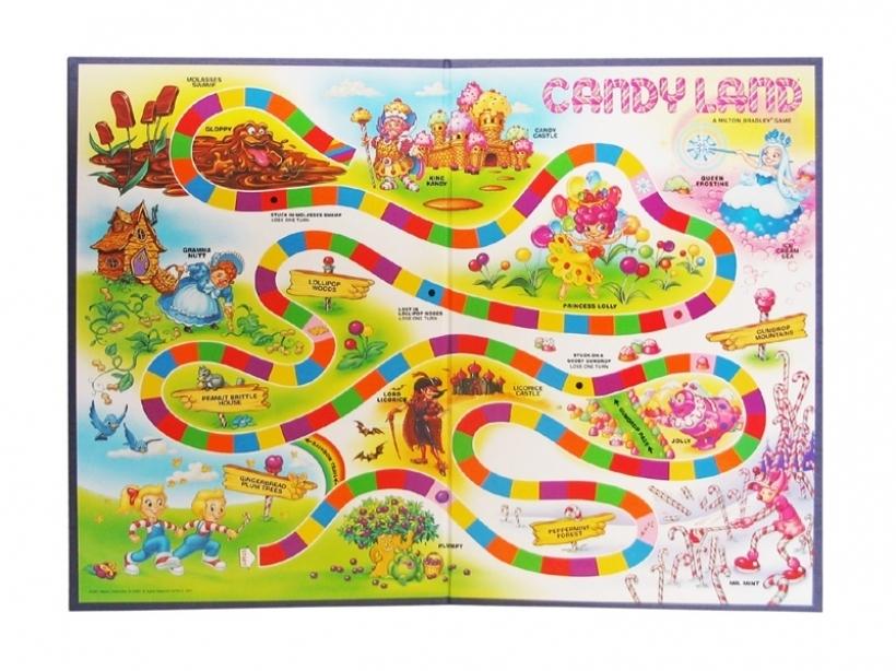 Free Clipart Vintage Candyland Game.