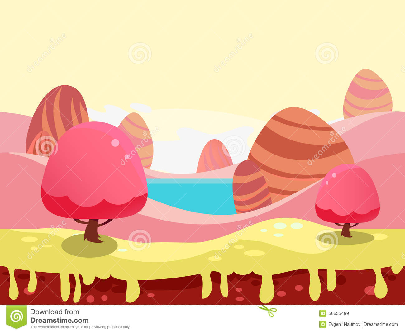 Candy Land Stock Illustrations.