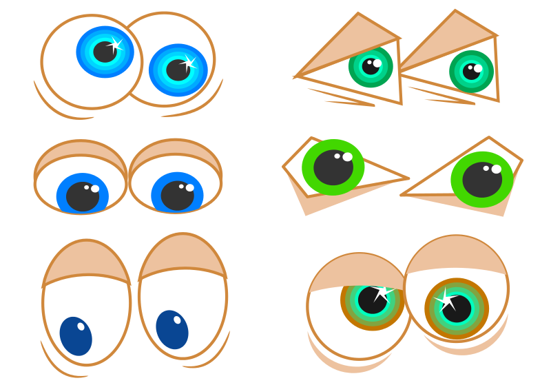 Free Clipart: Cartoon Eyes.