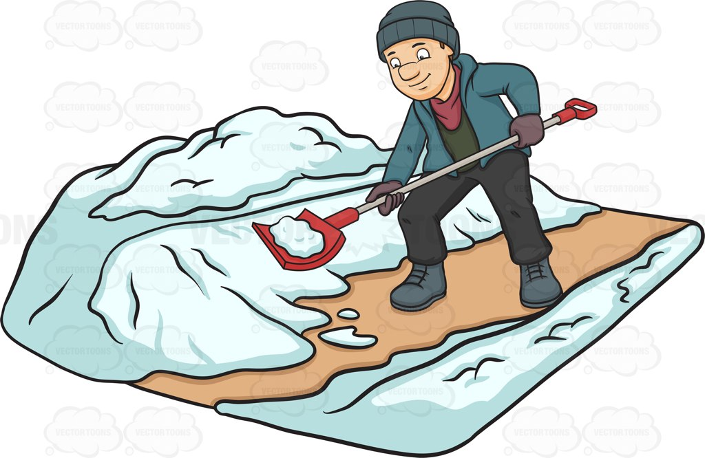 Showing post & media for Cartoon shoveling snow clip art.