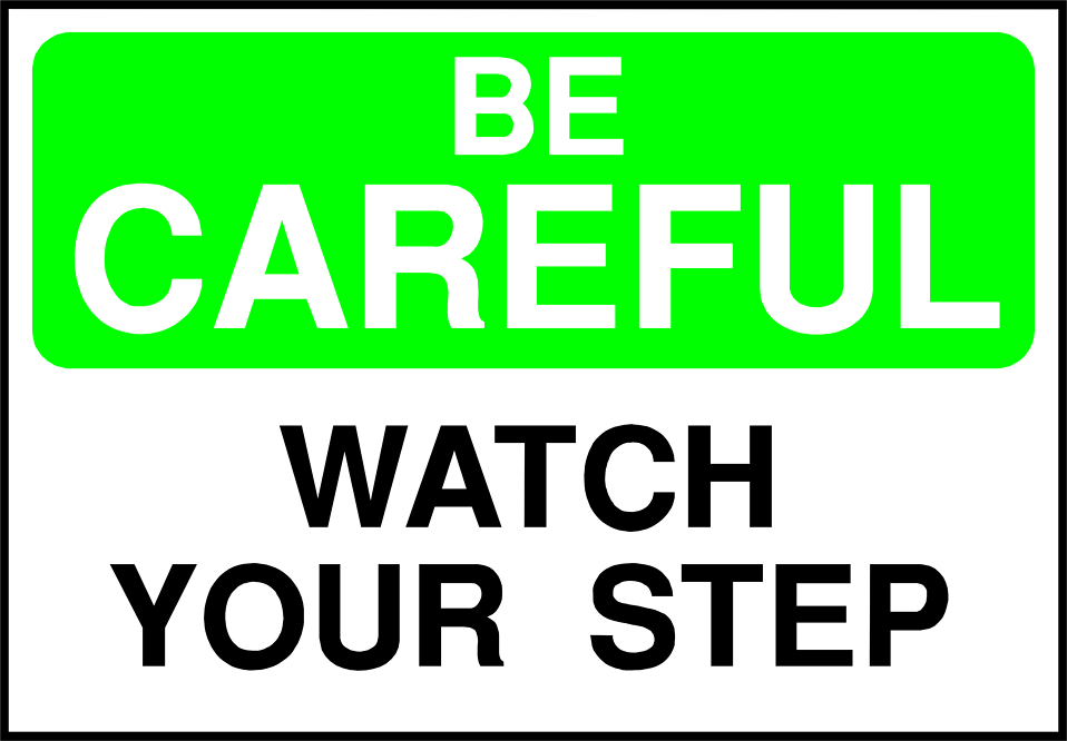Free Clipart Caution Sign.