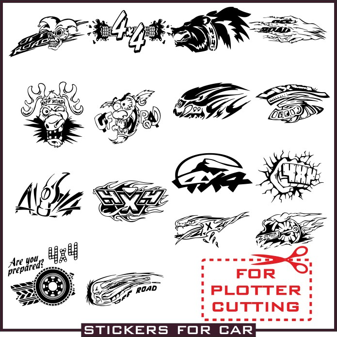 Stickers for jeep vector images free download cdr, dxf from.