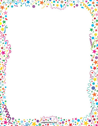Free printable celebration borders.