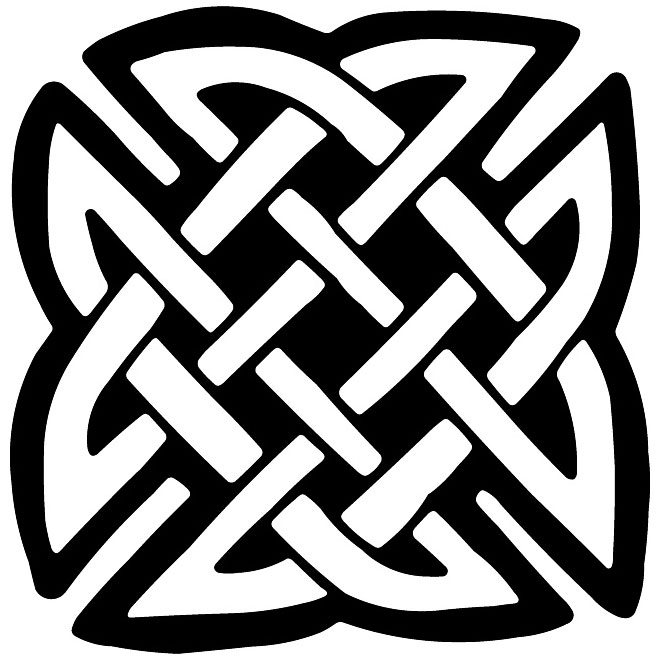 Celtic knot vector decoration.