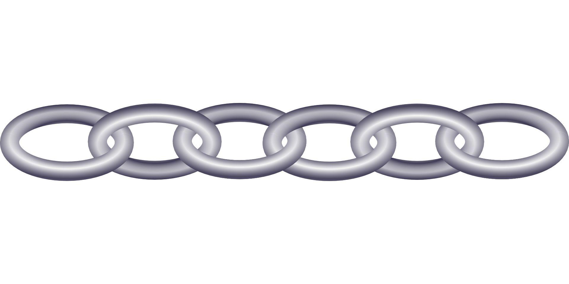 Circle chain vector.