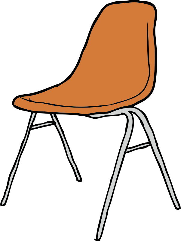 Free Clipart: Modern Chair 3/4 Angle.