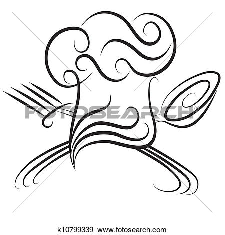 Clipart of white chef hat k11107331.
