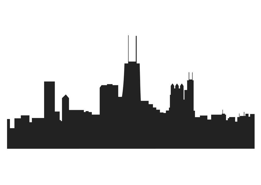 Free Chicago Skyline Silhouette Vector Free, Download Free.