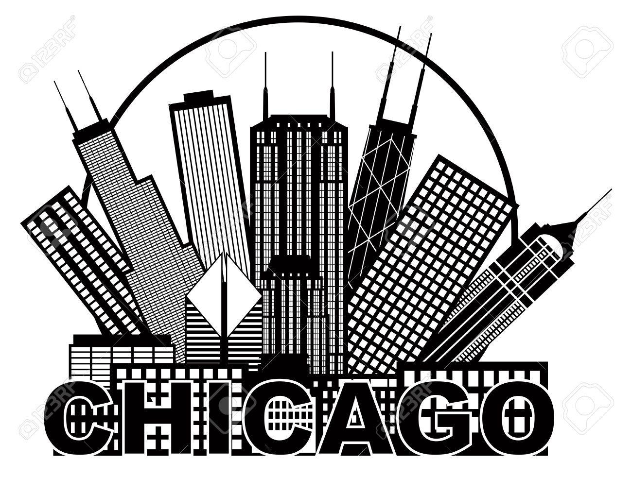 chicago skyline silhouette free.