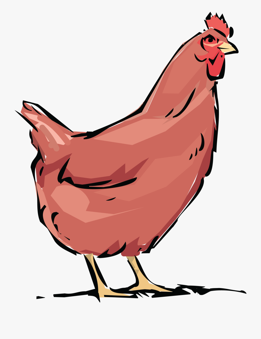 Free Clipart Of A Chicken Hen.