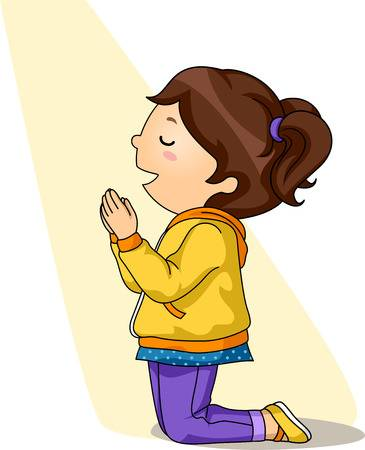 479 Child Praying free clipart.