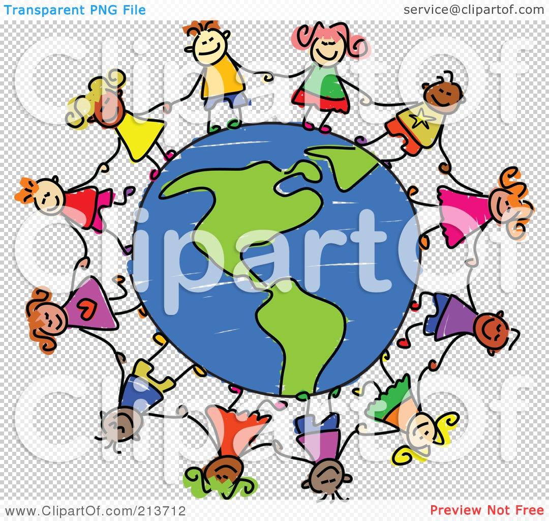 Free Clipart Children Around Globe No Watermark.