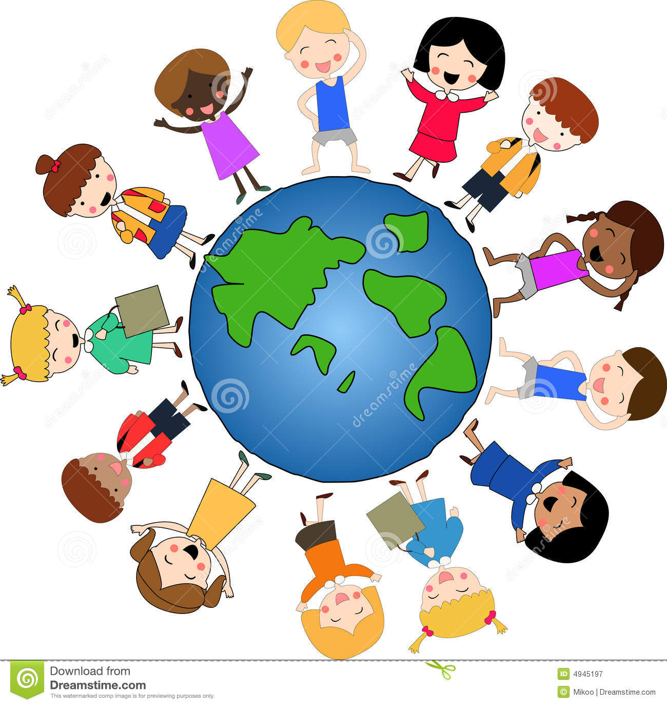 Children Around The World Royalty Free Stock Photography.