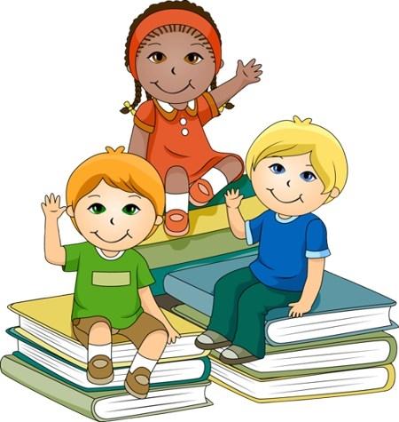 clipart of children in school.