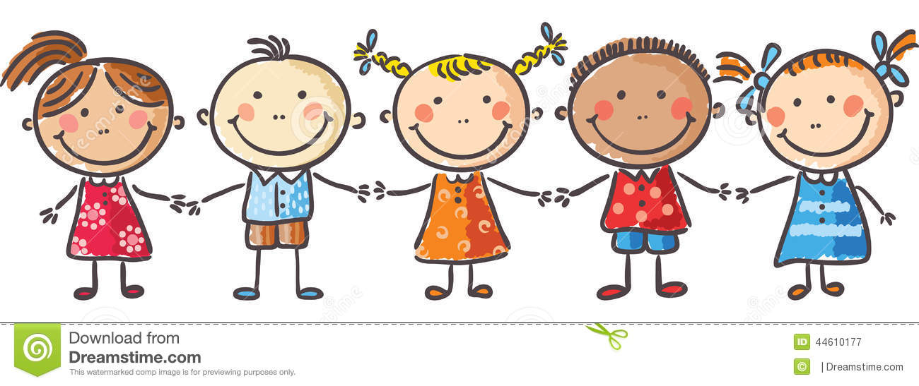 Clipart Of Kids Holding Hands.