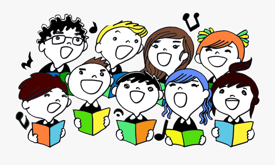 Sunday School Children Singing , Free Transparent Clipart.