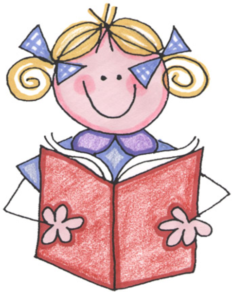 Free Children Reading Clipart Image.