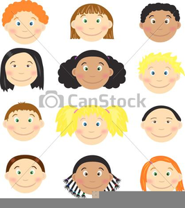 Free Clipart Of Kids Faces.