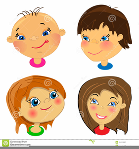 Childrens Faces Clipart.