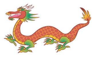 830 Chinese Dragon free clipart.
