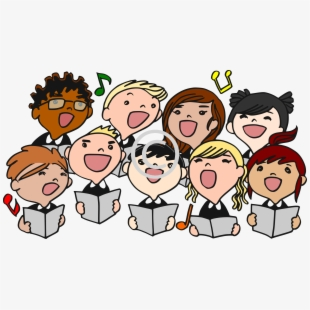 Choir Singing Clip Art.