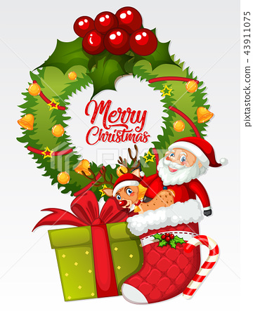 Merry christmas card template.