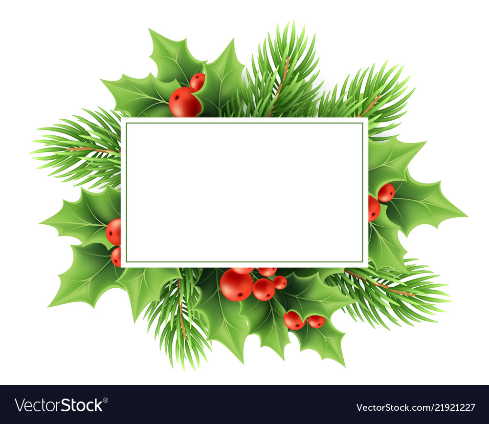 Christmas greeting card template.