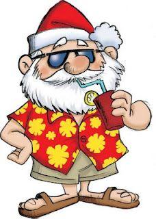 Santa on vacation after Christmas..ahhh..