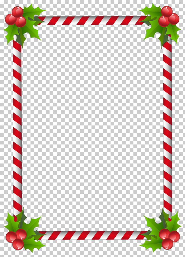 Santa Claus Christmas tree Frames , page border, red and.