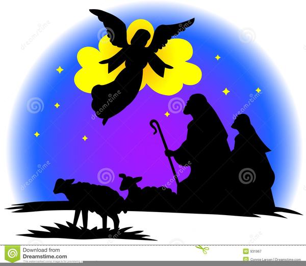 Free Christmas Shepherd Clipart.
