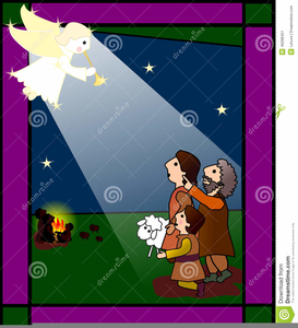 Christmas Shepherds Clipart.