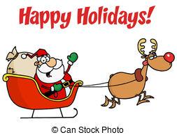 Santa Sleigh Free Clipart.