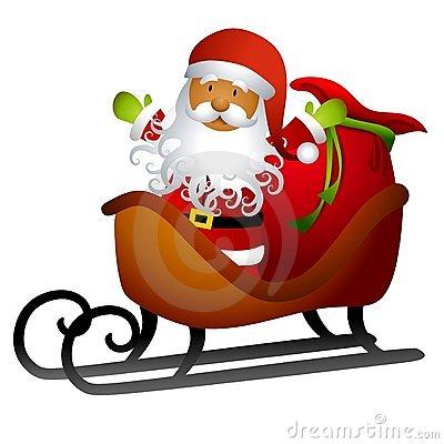 Free Clipart Christmas Sleigh.