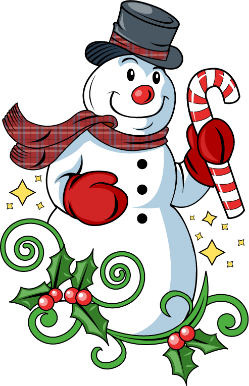 Holiday snowman clip art free clipart images 4.