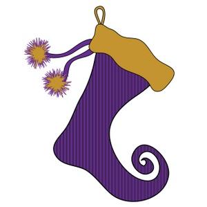 Free Christmas Stocking Clip Art Image.
