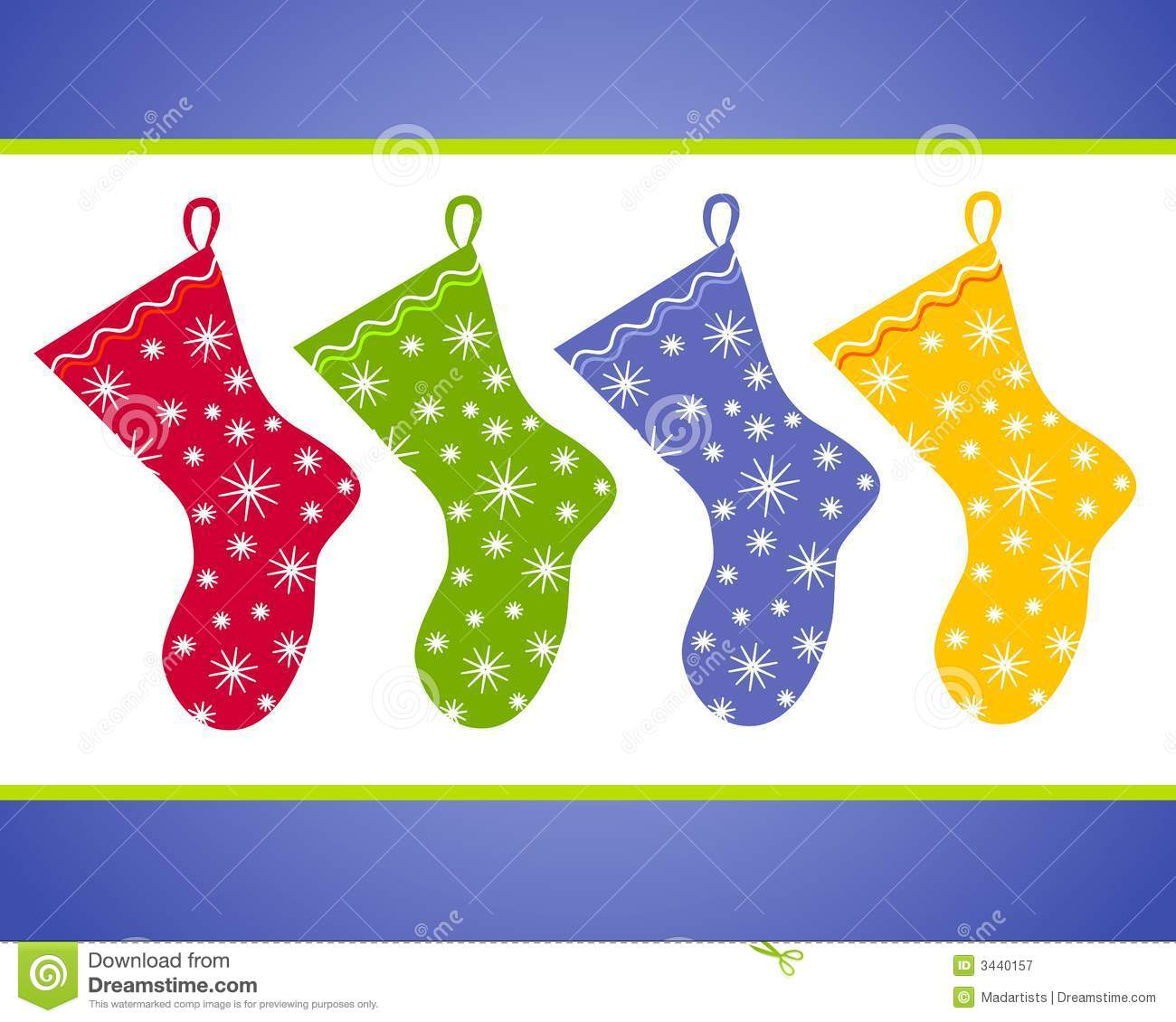 Christmas Stockings Clip Art Royalty Free Stock Photography.