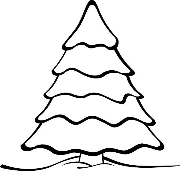 Basic Christmas Tree Outline Drawing Clip Art Pictures, Images.