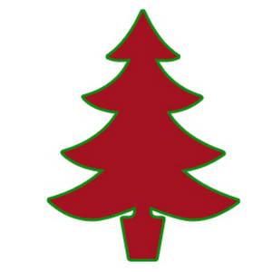 Clip Art Christmas Tree Outline.