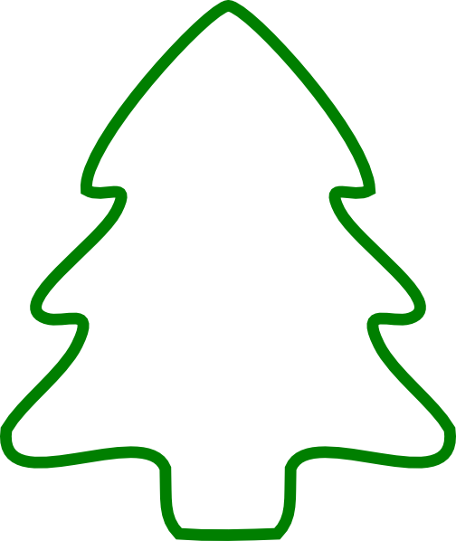 Christmas Tree Outlines.