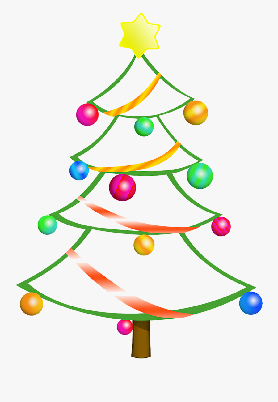 Christmas Tree Clipart Top Border.