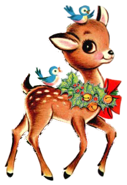 Fawn and Blue Birds.