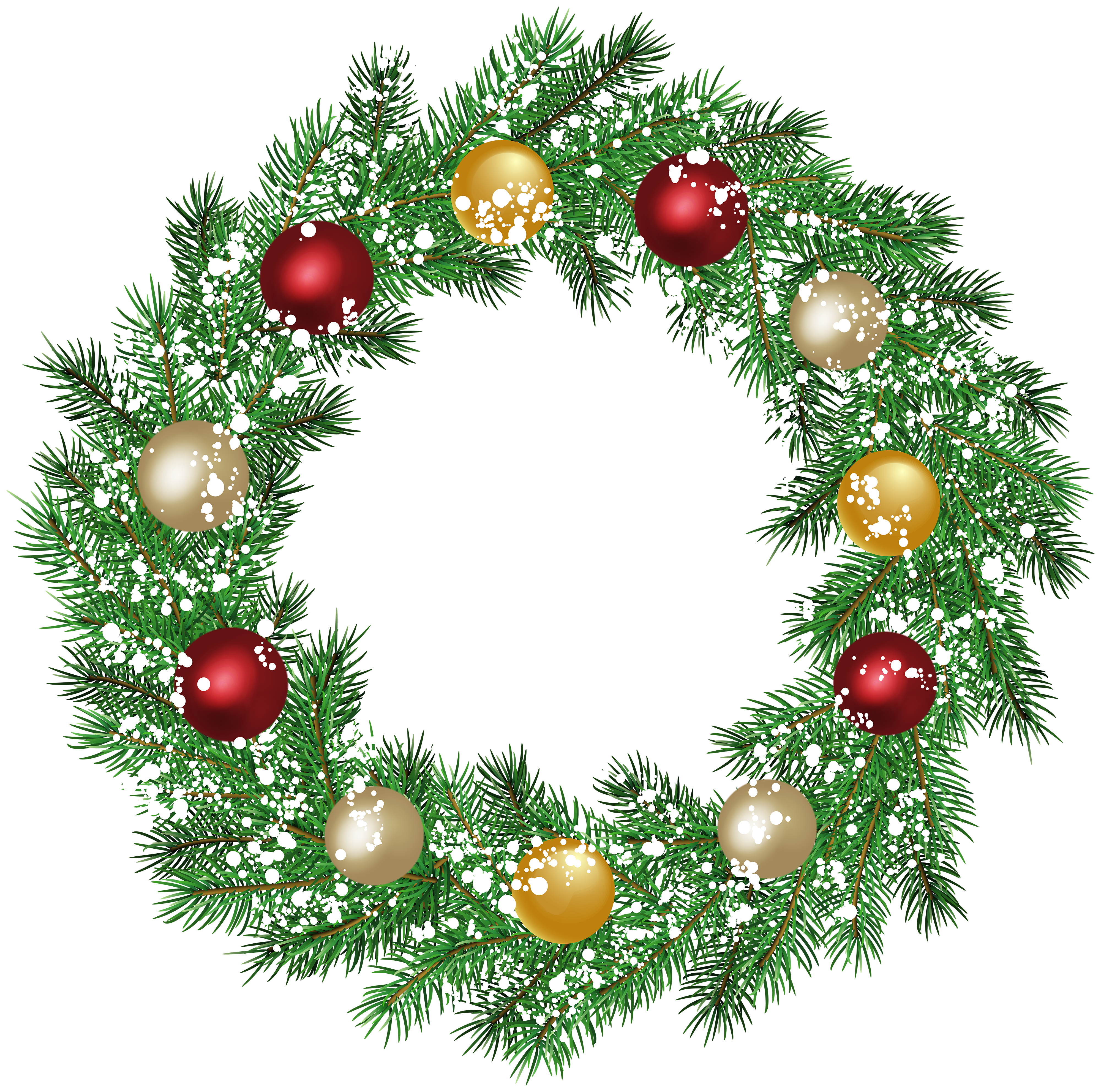 Christmas Wreath PNG Clip Art.