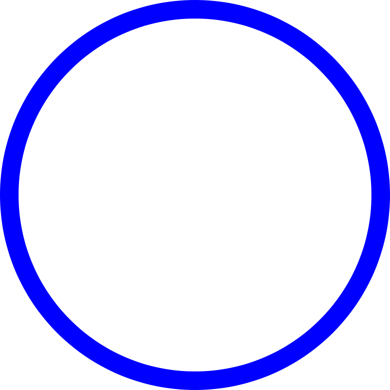 Free Clipart: Blue circle.