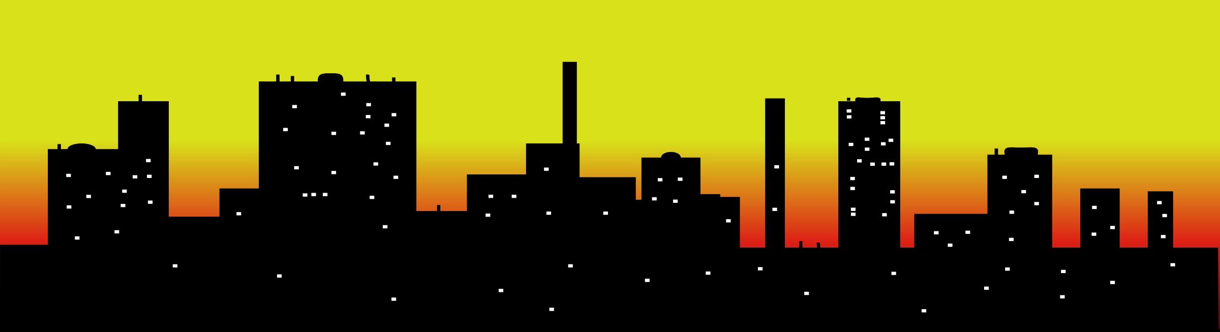 Sunset Skyline Clipart.
