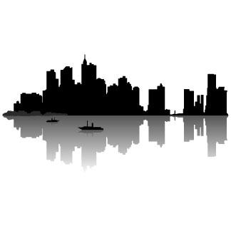 City skyline free clipart.