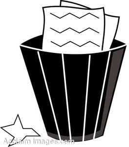 Paper Basket Clipart.